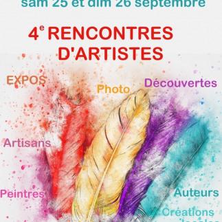 RENCONTRES D'ARTISTES 25 et 26 Septembre 2021