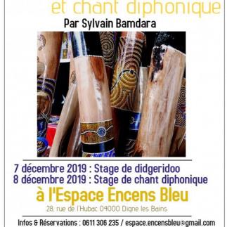 Stage de Didgeridoo et chant diphonique à Digne Les Bains