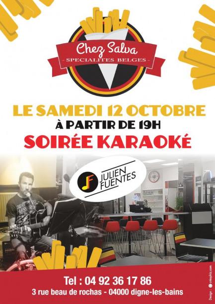 Soirée Karaoké Friterie/Saladerie Chez Salva Samedi 12 Octobre