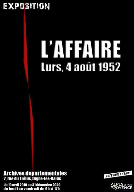 L'Affaire, Lurs, 4 août 1952