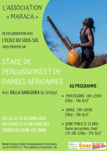 Stages percussions, Danse Africaines