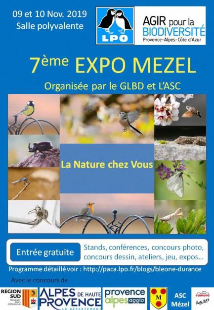 7ème EXPO MEZEL LPO-PACA Bléone-Durance et ASC Mézel